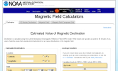 Estimated Value of Magnetic Declination